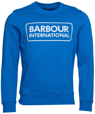 Men's Barbour International Large Logo Sweater - Neela Blue