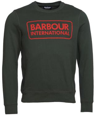 Men's Barbour International Large Logo Sweater - Jungle Green