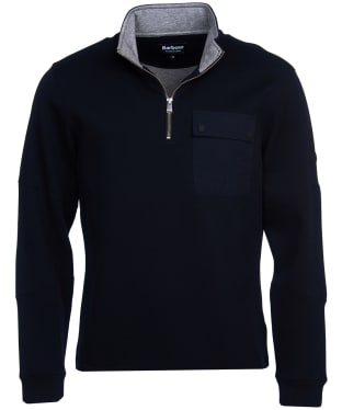 Men's Barbour International Ratio Half Zip Sweater - Black