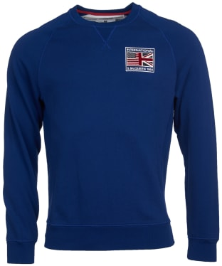 Men's Barbour International Steve McQueen Team Flags Sweater - Inky Blue
