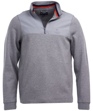 Men's Barbour Cetus Half Zip Sweater - Grey Marl