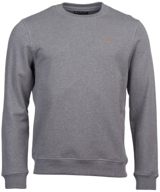 Men's Barbour Saltire Crew Sweater - Grey Marl