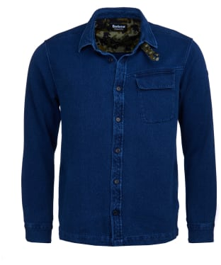 Men's Barbour International Camber Overshirt - Indigo