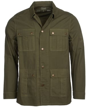 Men's Barbour International Steve McQueen Chico Overshirt - Military Green