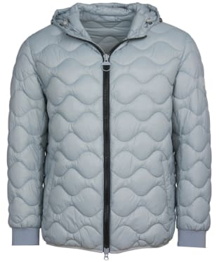 Men's Barbour International Acoustics Quilted Jacket - Soft Grey