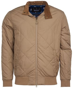 Men's Barbour International Steve McQueen Glance Quilted Jacket - Sand