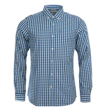 Men's Barbour Indigo 7 Tailored Shirt - Indigo