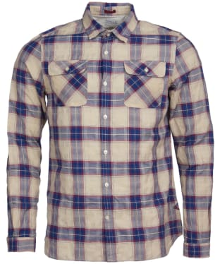 Men's Barbour International Steve McQueen Buddy Shirt - Beige Check