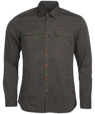 Men's Barbour International Steve McQueen Henri Shirt - Olive Check