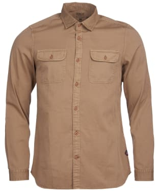 Men's Barbour International Steve McQueen Henri Shirt - Stone Check