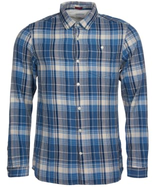 Men's Barbour International Steve McQueen Rider Shirt - Blue Check