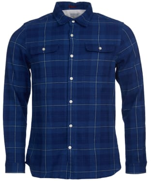 Men's Barbour International Steve McQueen Smith Shirt - Inky Blue Check