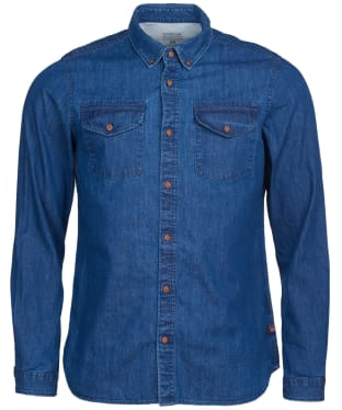 Men's Barbour International Steve McQueen Denim Shirt - Indigo