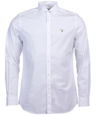 Men's Barbour Saltire Stretch Poplin Shirt - White