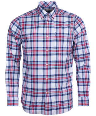 Men's Barbour Highland Check 24 Tailored Shirt - Sky Check