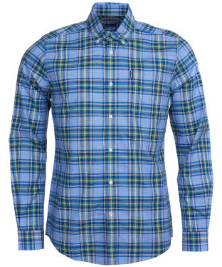 Men's Barbour Highland Check 26 Tailored Shirt - Sky Blue Check