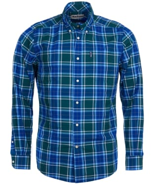 Men's Barbour Highland Check 27 Tailored Shirt - Green Check