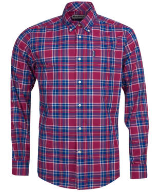 Men's Barbour Highland Check 27 Tailored Shirt - Red Check