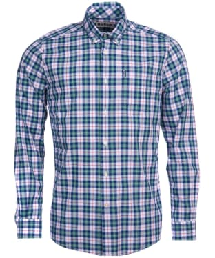 Men's Barbour Highland Check 28 Tailored Shirt - Green Check