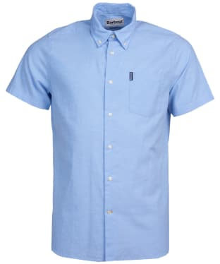 Men's Barbour Oxford 9 S/S Tailored Shirt - Blue