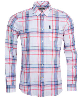 Men's Barbour Madras 4 Tailored Shirt - Sky Blue Check