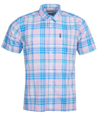 Men's Barbour Madras 6 S/S Summer Shirt - Pink Check