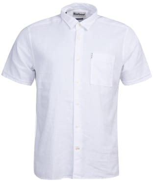Men's Barbour Linen Mix 1 S/S Summer Shirt - White
