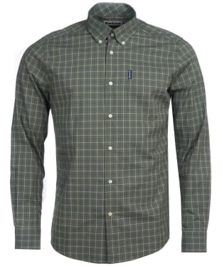Men's Barbour Tattersall 16 Tailored Shirt - Olive