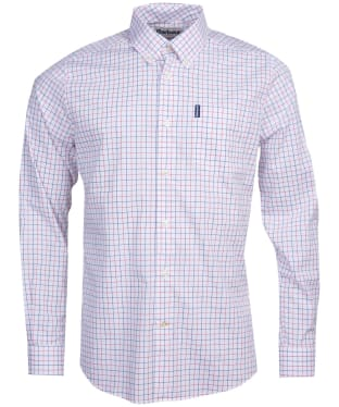 Men's Barbour Tattersall 16 Tailored Shirt - Red