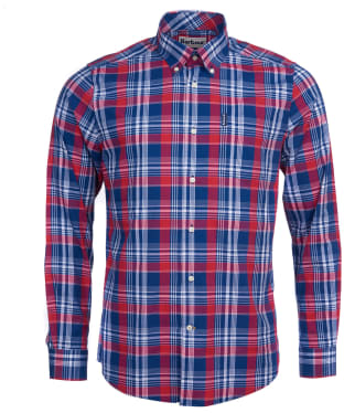 Men's Barbour Country Check 10 Tailored Shirt - Red Check