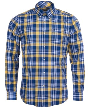 Men's Barbour Country Check 10 Tailored Shirt - Yellow Check