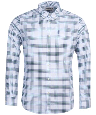 Men's Barbour Country Check 8 Tailored Shirt - Green Check