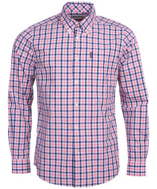 Men's Barbour Gingham 15 Tailored Shirt - Pink