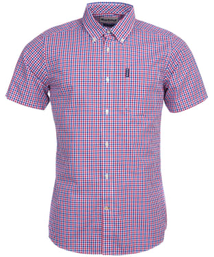 Men's Barbour Gingham 16 S/S Tailored Shirt - Red