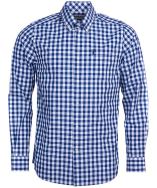 Men's Barbour Gingham 18 Tailored Shirt - Inky Blue