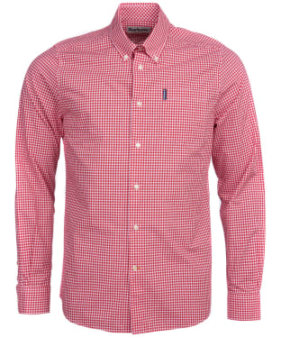 Men's Barbour Gingham 19 Tailored Shirt - Red