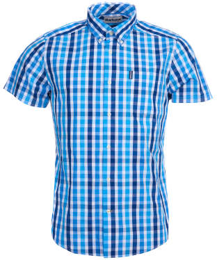 Men's Barbour Gingham 20 S/S Tailored Shirt - Blue