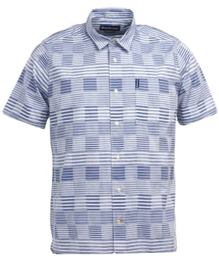 Men's Barbour Stackpole S/S Shirt - Chambray Stripe