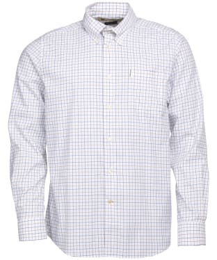 Men's Barbour Batley Performance Shirt - Sandstone Check