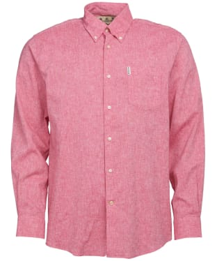 Men's Barbour Linen Mix 1 Regular Shirt - Red