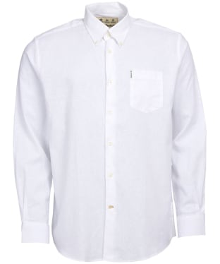 Men's Barbour Linen Mix 1 Regular Shirt - White
