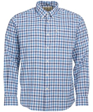 Men's Barbour Linen Mix 3 Regular Shirt - Blue Check
