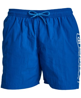 Men's Barbour International Large Logo Swim Shorts - Neela Blue