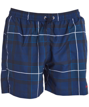 Men's Barbour Tartan Swim Shorts - Ink