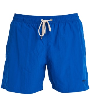 "Men's Barbour Essential Logo 5"" Swim Shorts - Bright Blue"