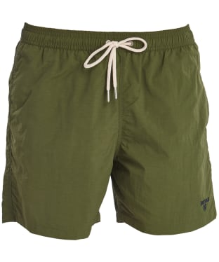 "Men's Barbour Essential Logo 5"" Swim Shorts - Olive"
