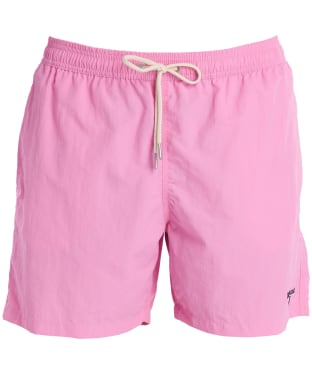 "Men's Barbour Essential Logo 5"" Swim Shorts - Pink"
