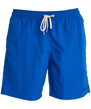 "Men's Barbour Essential Logo 7"" Swim Shorts - Bright Blue"
