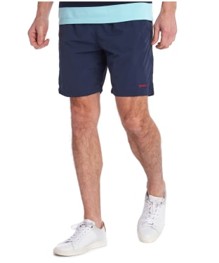 "Men's Barbour Essential Logo 7"" Swim Shorts - Navy"