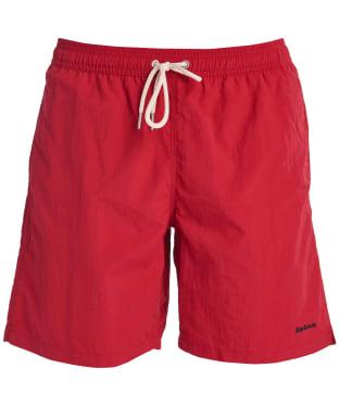 """Men's Barbour Essential Logo 7"""" Swim Shorts - Red"""
